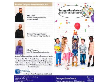 Flyer des Integrationsbeirates